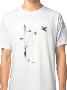 Sweetness - Hummingbird & Flower Painting Classic T-Shirt