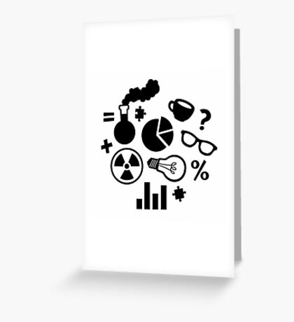 Science Pattern Greeting Card