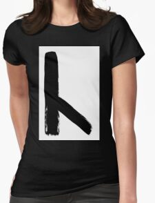 Anglo-Saxon Futhorc cēn torch c Womens Fitted T-Shirt
