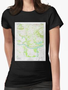 USGS TOPO Map Arkansas AR Holla Bend 258736 1972 24000 Womens Fitted T-Shirt