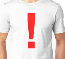 "Red Exclamation Mark ""!"" Unisex T-Shirt"