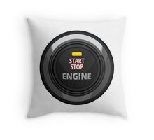 Start / Stop Engine Button Throw Pillow