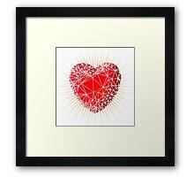 Love heart Framed Print
