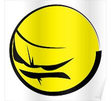 Angry Face2 (Yellow Emoticon) Mad Boy Poster