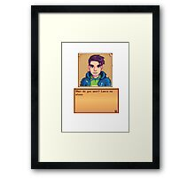 Stardew Valley - Shane Framed Print