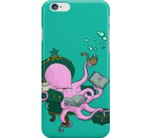 Mister Octopus reads a good book iPhone Case/Skin