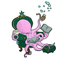 Mister Octopus reads a good book Photographic Print