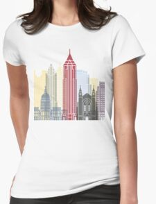 Atlanta skyline poster Womens Fitted T-Shirt