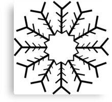 Snowflake no 1 Canvas Print
