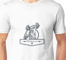 Berserker Lifting Barbell Kettlebell Fitness Circle Retro Unisex T-Shirt