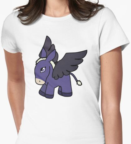 Flying Donkey Horse (Pegasus) Womens Fitted T-Shirt