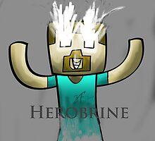 Minecraft Herobrine :) by quikdraw