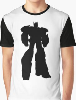 robot hero simple black silhouette Graphic T-Shirt
