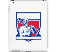 Handyman Cordless Drill Paintroller Shield Retro iPad Case/Skin