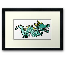 Anime Cartoon Happy Chinese Dragon Framed Print