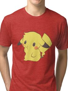 Pikachu - Thinking Tri-blend T-Shirt