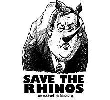Save the Rinos (Chris Christie) Photographic Print