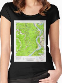 USGS TOPO Map Arkansas AR Big Island 259998 1939 62500 Women's Fitted Scoop T-Shirt