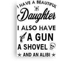 Beautiful Daughter Canvas Print