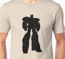 robot hero simple black silhouette Unisex T-Shirt