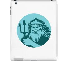 Triton Trident Front Circle Retro iPad Case/Skin