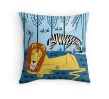 Whilst The Lion Sleeps Throw Pillow