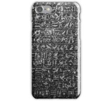 Ancient Hieroglyphs Art iPhone Case/Skin