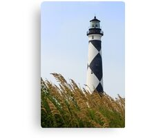 Cape Lookout Lighthouse and Sea Oats Canvas Print