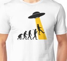 Human Evolution (UFO Alien Abduction) Unisex T-Shirt