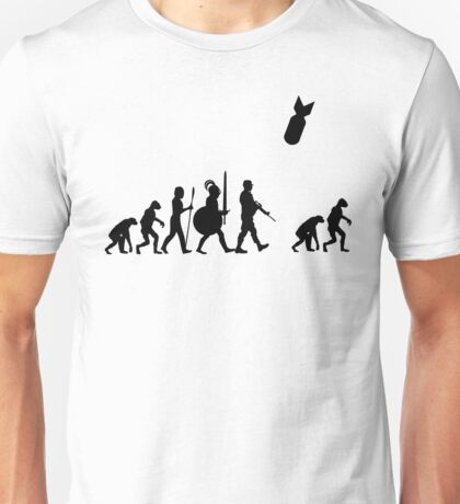 Human Evolution (After Nuclear Bomb) Unisex T-Shirt
