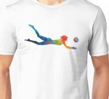 Woman beach volley ball player 01 in watercolor Unisex T-Shirt