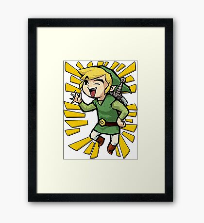 Laughing Link Framed Print
