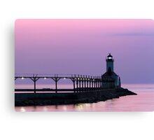 Michigan City (Indiana) Light at Twilight Canvas Print