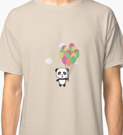 Panda with colorful balloons Classic T-Shirt