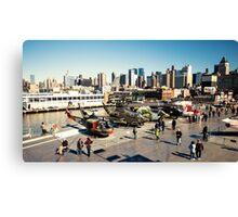 Chopper Cityscape  Canvas Print