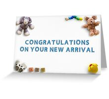 Congratulations on your new arrival 01 Greeting Card