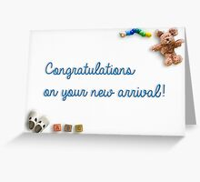 Congratulations on your new arrival 02 Greeting Card