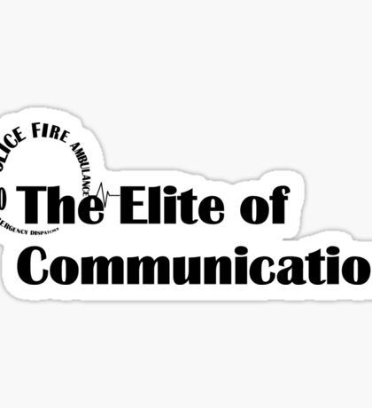 000 Emergency Operator 5 - The Elite of Communications Black Print Sticker