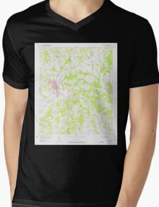 USGS TOPO Map Arkansas AR Nashville 259210 1951 24000 Mens V-Neck T-Shirt