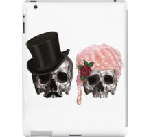 skull couple tall hat pink hair rose iPad Case/Skin