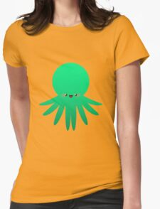 Smiley Octopus Womens Fitted T-Shirt