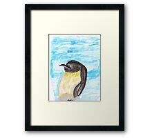 Watercolor Penguin Framed Print