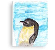 Watercolor Penguin Canvas Print
