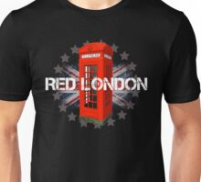 Red London Phone Booth Unisex T-Shirt