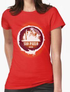 Sao Paulo Romantic Beach Womens Fitted T-Shirt