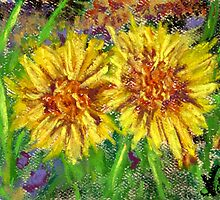 Sunny Flowers (pastel) by Niki Hilsabeck