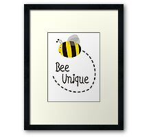 Bee Unique Framed Print