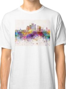 Denver V2 skyline in watercolor background Classic T-Shirt