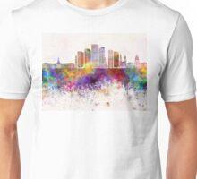 Denver V2 skyline in watercolor background Unisex T-Shirt
