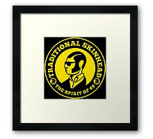 TRADITIONAL SKINHEAD Framed Print